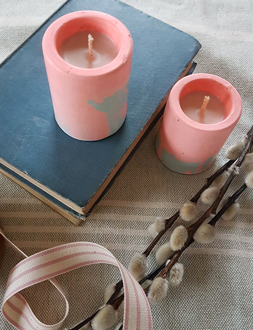 mini pots candles