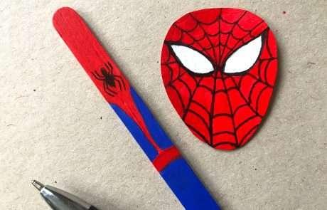 spiderman bookmark