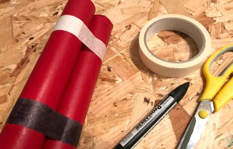 diy paper dynamite prop craft materials