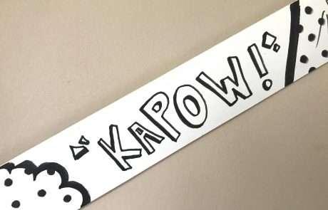 diy comic strip frame kapow