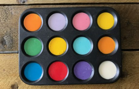 diy colourful paint for kids