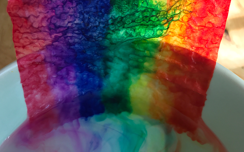 felt tip pen rainbow science