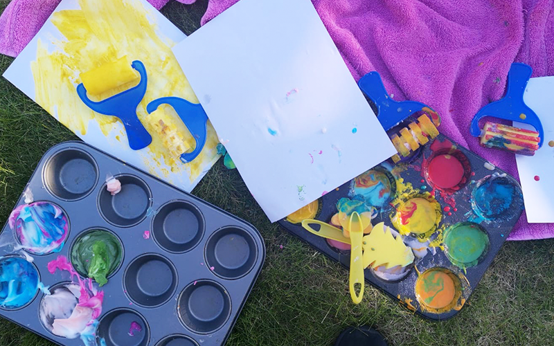 diy kids paint at home