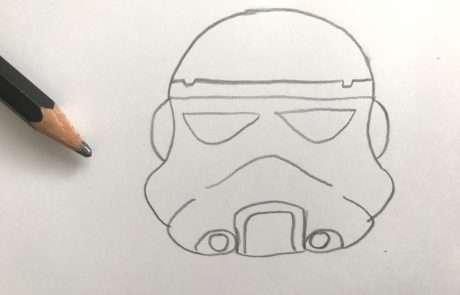 star wars stormtrooper sketch