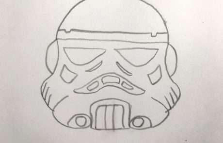 star wars easy stormtrooper sketch