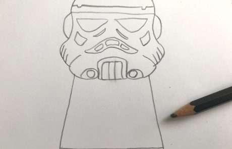 cool star wars stormtrooper sketch