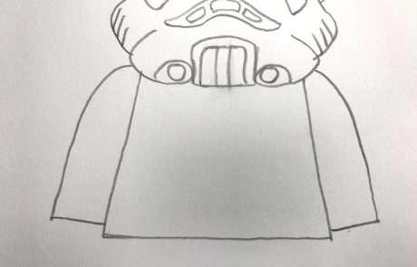 stormtrooper sketch for kids