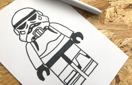 simple stormtrooper sketch