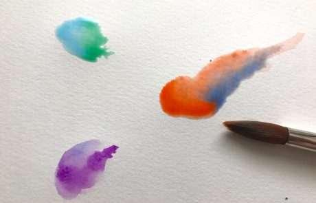 watercolour blobs