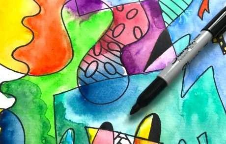 tangle doodles watercolour