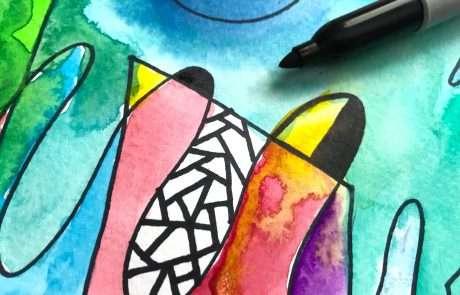watercolour doodles