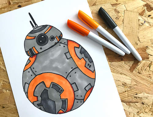 Easy BB8 Droid Drawing