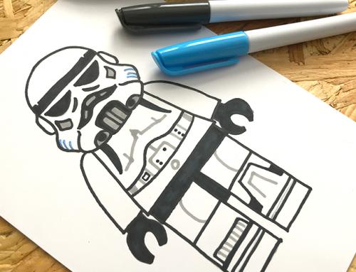 Simple LEGO Star Wars Stormtrooper Sketch