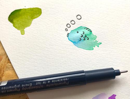 10 Minute Watercolour Blob Doodles