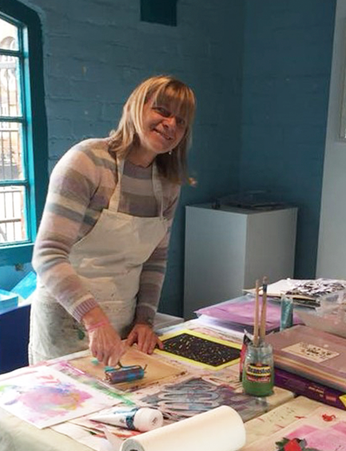 gel plate printing print making workshop Caversham Reading Berkshire